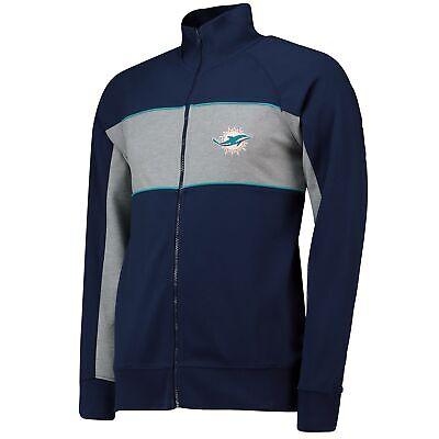 Nfl Miami Dolphins Cut And Sew Track Giacca Cappotto Top Blu Navy Con Marchio Da Uomo Fanatici.-mostra Il Titolo Originale