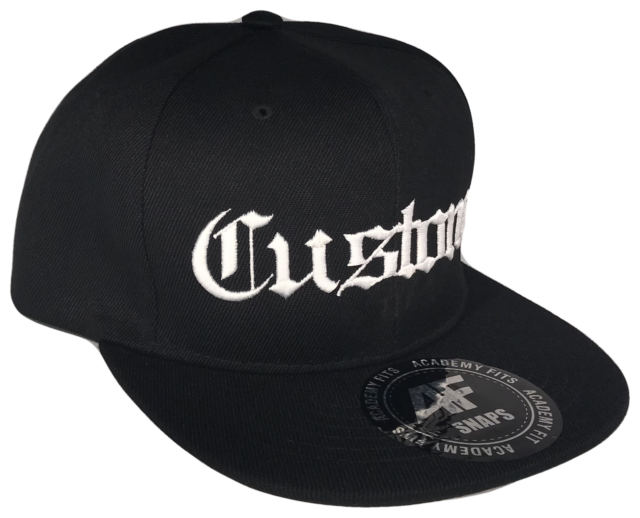 74daff3ba01 Frequently bought together. CUSTOM EMBROIDERY Old English Snapback Black  White Baseball Cap ...