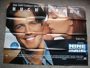 NINE-MONTHS-Original-film-poster-Hugh-Grant-UK-quad