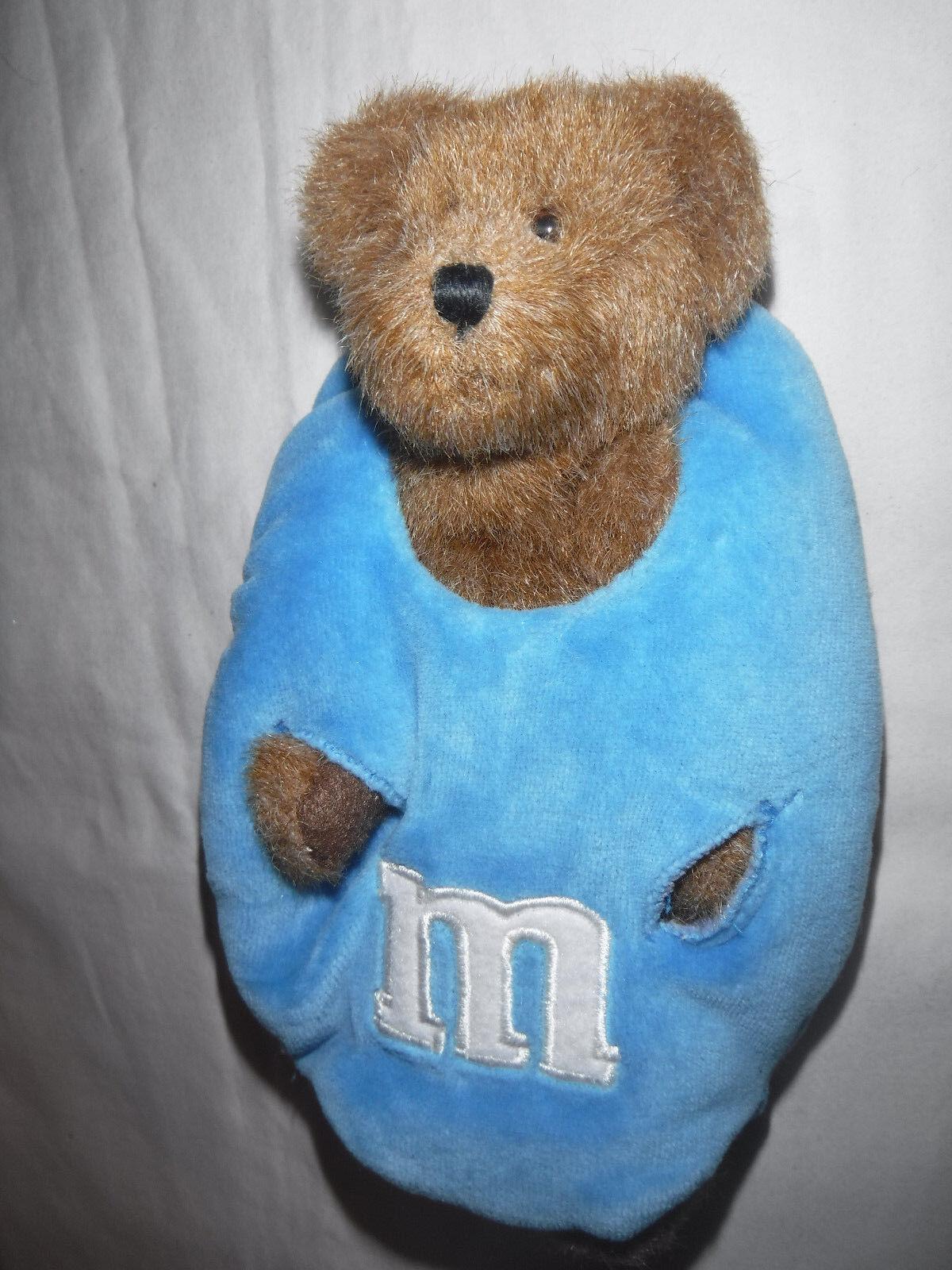 Boyds Bear M&M bluee 8  Plush Soft Toy Stuffed Animal