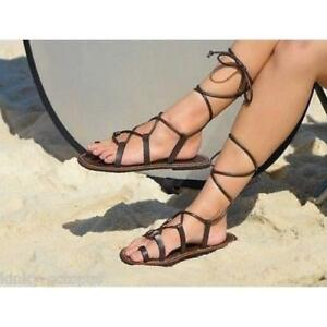 New-Santo-Sandals-Girl-039-s-Leather-Gladiator-Sandals-Cow-Leather-PU-straps