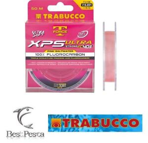 TRABUCCO XPS FLUOROCARBON SALTWATER 50mt 0,185 Filo da Pesca
