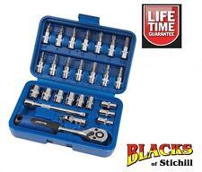 """Blue Spot Tools-1/4"""" Socket Set,Metric,Ratchet,Torx Bits,Screwdriver Bits,01525"""
