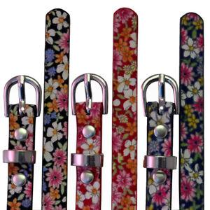 Damen Gürtel Damenmode Blumenmuster Dünn Strap Taillenband Patent Übergröße