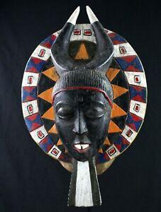 Art-Africain-Arts-Premiers-Authentique-Masque-de-Portage-Baoule-38-Cms