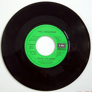 ONE-1980-039-S-45-R-P-M-RECORD-THE-J-GEILS-BAND-TAKIN-039-YOU-DOWN-COME-BACK
