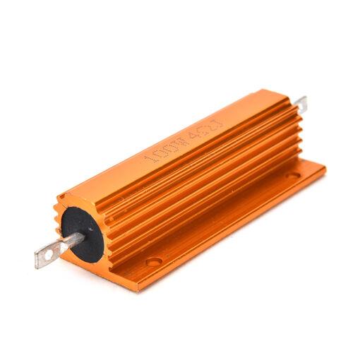 100W Hochlast Widerstand ALU Kühlkörper Leistungswiderstand 1R//2R//4R//8R//10R HN