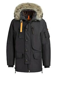 New-with-tags-034-Parajumpers-Kodiak-034-MASTERPIECE-BLACK-PARKAS-FOR-MEN