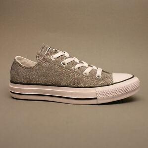 Details zu Converse All Star Chuck Ox Silver 549679C Turnschuhe Sneakers silber Glitzer