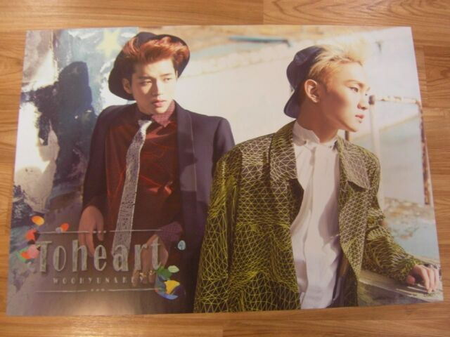 TOHEART [INFINITE Woohyun & SHINee Key] TYPE A [ORIGINAL POSTER] *NEW* K-POP