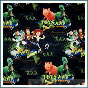 BonEful-Fabric-FQ-Cotton-Toy-Story-Disney-Pixar-Movie-Dino-Woody-Jessie-Pig-Buzz