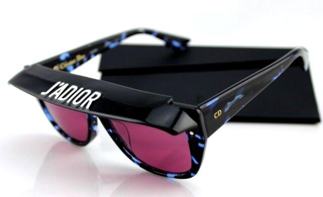fdac16fdc3360 NEW Authentic Christian DIOR CLUB 2 J ADIOR Havana Blue Pink Sunglasses JBW  U1
