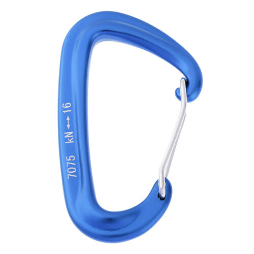 16KN D Ring Aluminum Wire Gate Carabiner Clip Hiking Camping Travel Hammock