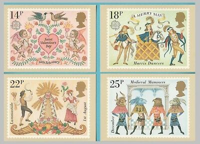 Set of 4 PHQ Stamp Postcards Set No.49 Folklore Europa 1981 BS7