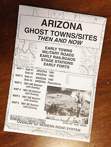 Map Of Arizona Ghost Towns.Details About Arizona Edition Ghost Towns Sites Then And Now Maps Map