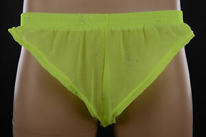Mens, Home Made, Sheer Silver Holo, Fluro Lime/Yellow Polyester Xtreme Shorts