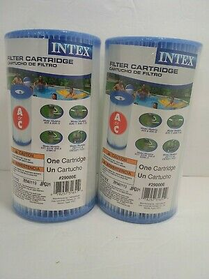 2 Pack Intex Type A Or C Filter Cartridge For Above Ground Swimming Pool Pumps Beber Té Regularmente Mejora Tu Salud