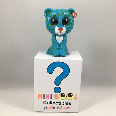 "LEONA the 2/"" Hand Painted Figurine Blue Leopard ~ NEW Ty Beanie Mini Boos"