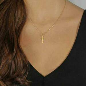 Women Fashion Gold Chain Cross Necklace Small Gold Cross Religious Jewelry Gift Ebay