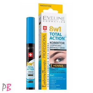 Eveline 8in1 Total Action Eyebrow Corrector With Henna
