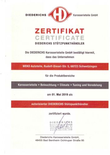 PARAURTI Supporto Set per FIESTA 1405069 Diederichs