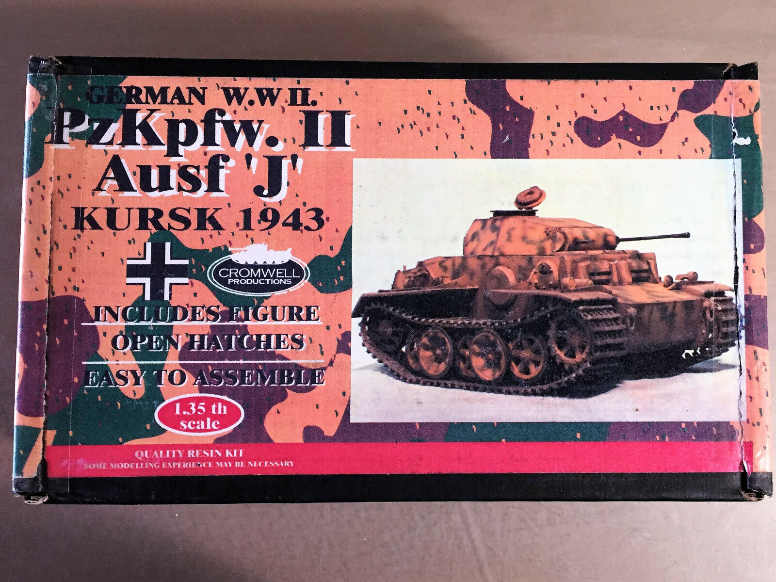 CROMWELL PRODUCTIONS - PzKpfw.I Ausf 'J' KURSK 1943 GERMAN WWII - 1 35 RESIN KIT