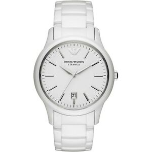 get new first rate best sell Details about NWT Armani Watches AR1476 Men's White Ceramica Watch