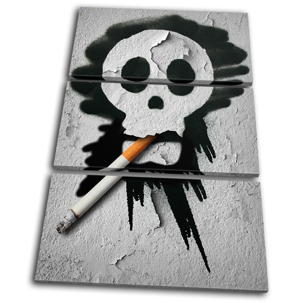 Graffiti Smoking Skull TREBLE LONA pa rojo  arte arte arte Foto impresion 003fac