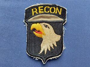 US 101st AIRBORNE RECON VIETNAM WAR ERA CLOTH BADGE / PATCH