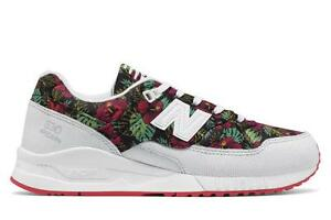 save off 4cab0 886fe Details about NEW BALANCE 530 FLORAL W530TCA WHITE/BLACK/PINK/GREEN -  PERFORATED LEATHER/NYLON