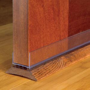 Details about 43338 M-D Slide-On CLEAR Under Door Seal Draft Gap Bottom  Weatherstrip, 36