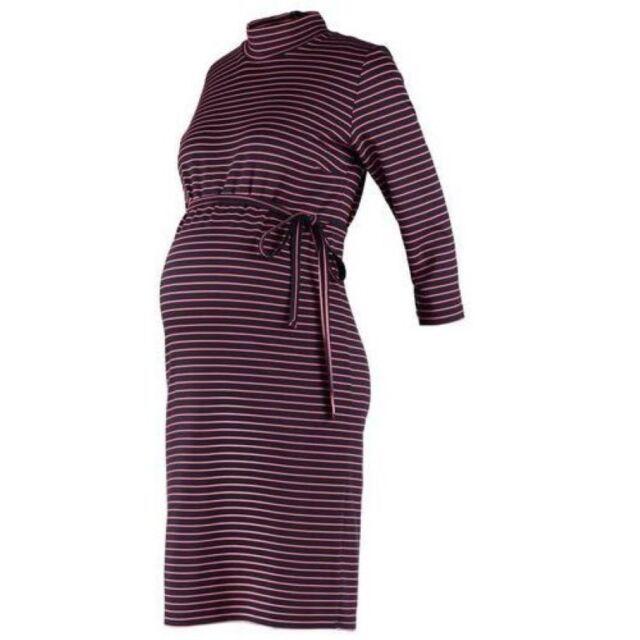 9789fcf370d41 Mamalicious 3/4 Jersey Maternity Dress Navy Size UK 12 rrp £40 DH079 RR