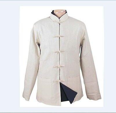 Double face Chinese style men's jacket coat Sz:M L XL XXL XXXL