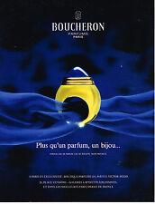 PUBLICITE ADVERTISING 024   1990   BOUCHERON   parfum bijou