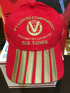 OFFICIAL-MICHAEL-SCHUMACHER-BRAND-NEW-FERRARI-2003-6th-F1-WORLD-CHAMPION-CAP