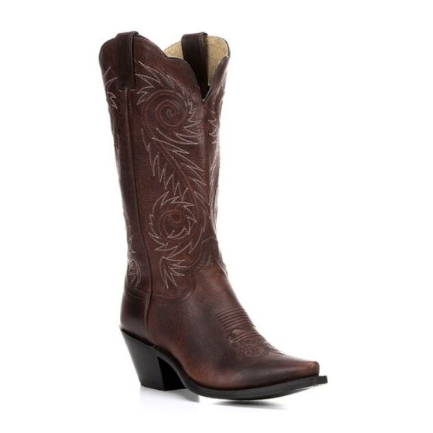 Justin Ladies Damiana Swirl Cowgirl Boots - Cognac L4333 New