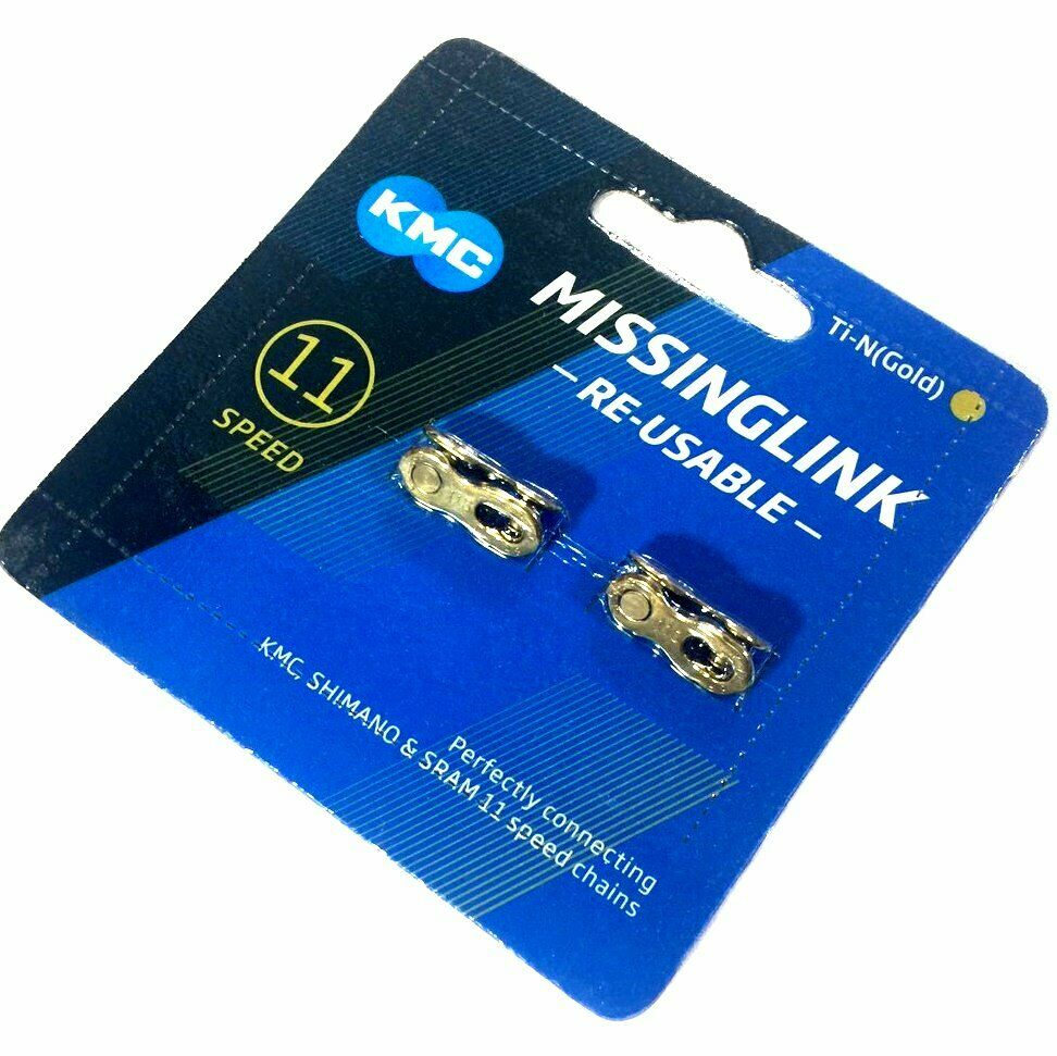 KMC Bike Chain connector link 11 speed two sets gold missing link