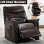 power lift chair recliner armchair sofa pu leather elderly chair seat w/ remote