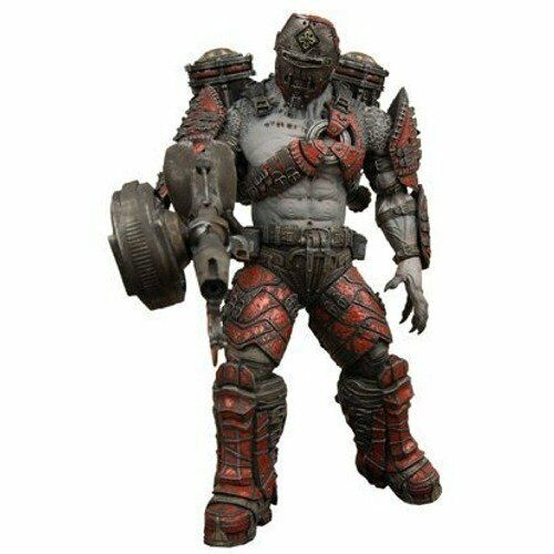 Gears of War Locust Grenadier Helmeted w  Flamethrower Figure NECA