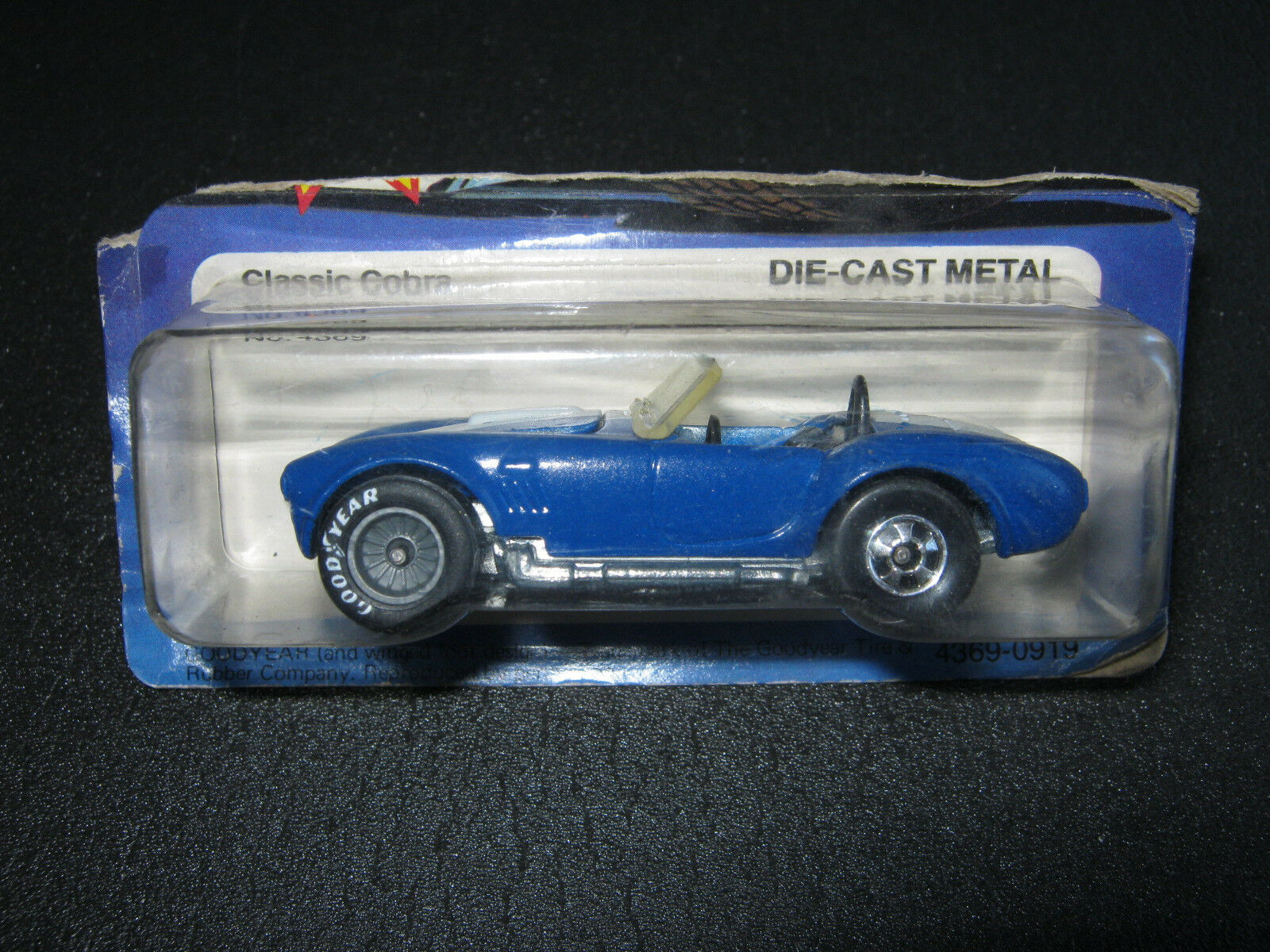 Hot Wheels Classic cobra Shelby vintage error wrong Wheels RR Real riders 4369