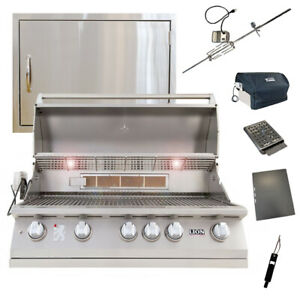 Lion 40-Inch 5-Burner Grill L90000 w/ Made In USA 24x17 Horizontal Access Door