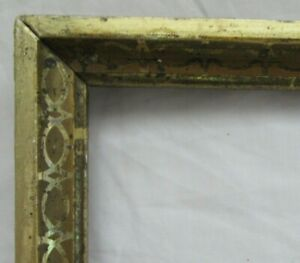 ANTIQUE-Fits-10-034-X-13-5-034-LEMON-GOLD-GILT-STENCILED-FRAME-FINE-ART-VICTORIAN