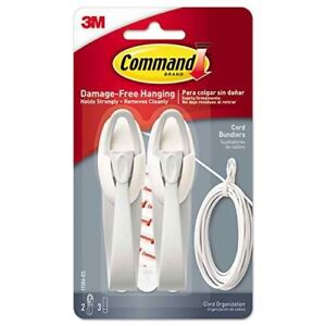 Command Decorative Cord Bundler Hook with Adhesive