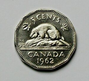 from mint set UNC lustre 1988 CANADA Elizabeth II Nickel Coin 5 Cents