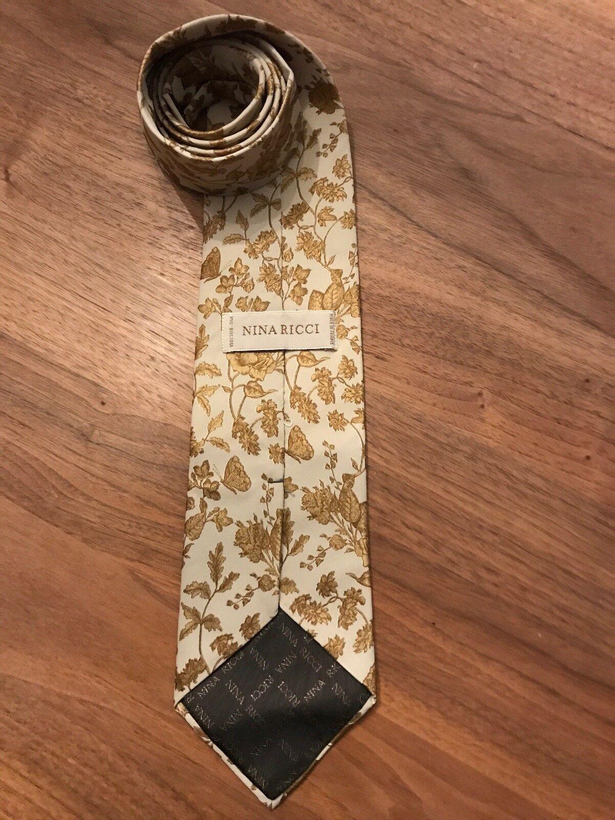 Krawatte von NINA RICCI Paris, 100% Seide, Made in in in France, Luxus, Schlips | Niedrige Kosten  ed4574