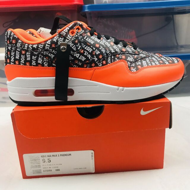air max 1 trainers white black total orange jdi