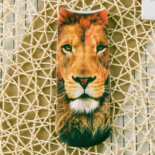 Fashion Men Women 3D Printed Socks Animal Casual Funny Emoji Low Cut Ankle Sock