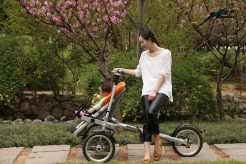 3in1 Baby Stroller Bike 3 Wheel 16''  One Seat Carrier Folding Mother's Bicycle