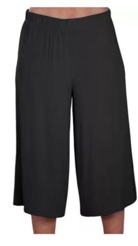 Le Donne Gamba Larga Plazzo 3//4 Pantaloni corti casual Donna Loose Capri Pantaloni