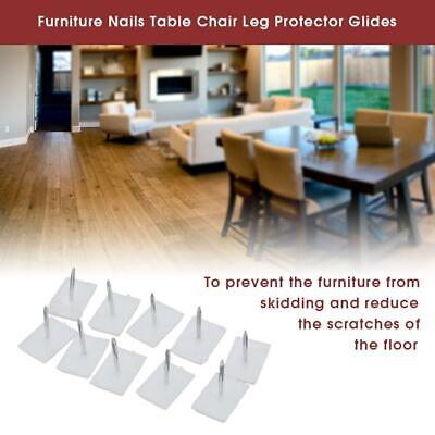 New Rectangle Plastic Furniture Glides Table Chair Leg Nail Floor